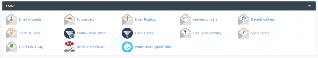 Email toolkit within cPanel